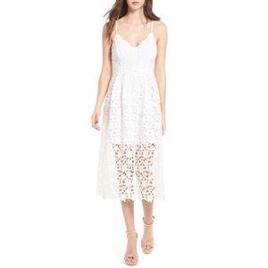 [ ASTR the label ] White Lace Midi dress S